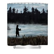 Morning Catch Shower Curtain