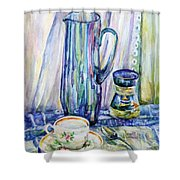Morning Coffee. Shower Curtain