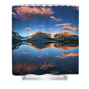 Morning Colors At Ice Field Center Shower Curtain