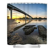 Morning Colors In Port St. Joe Shower Curtain