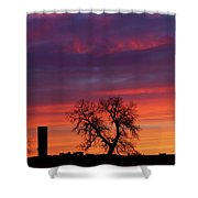 Morning Country Sky Shower Curtain