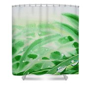 Morning Dew Drops Shower Curtain by Irina Sztukowski