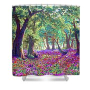 Morning Dew Shower Curtain by Jane Small