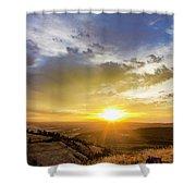 Morning Earth Rotation Shower Curtain