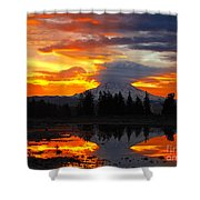 Morning Explosion Shower Curtain