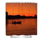 Morning Fishing On The Lake Shower Curtain