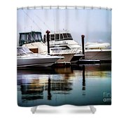 Morning Fog At Boothbay Shower Curtain
