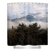 Morning Fog In Autumn In The Verdon Shower Curtain