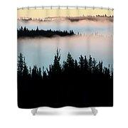 Morning Fog In Northern Saskatchewan Shower Curtain