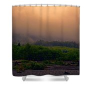Morning Fog In Olympic National Park Shower Curtain