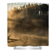 Morning Fog In The Boundary Waters Shower Curtain