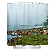 Morning Fog - Maine Shower Curtain