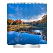 Morning Fog On The Moose River Shower Curtain