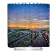 Morning Glory 2 Shower Curtain