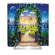 Morning Glory - Awaken To Magic Shower Curtain by Anne Wertheim