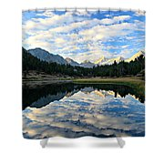 Morning Glory In The Land Of Little Lakes Shower Curtain by Sean Sarsfield