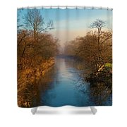 A Winter Morning Shower Curtain