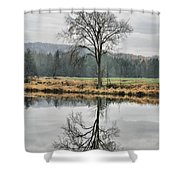Morning Haze And Reflections Shower Curtain