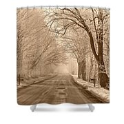Morning Ice And Fog Shower Curtain