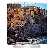 Morning In Manarola Cinque Terre Italy Shower Curtain