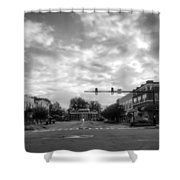 Morning In Murphy North Carolina In Black And White Shower Curtain