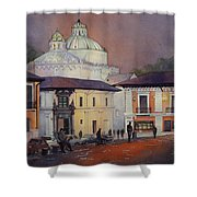 Morning In The Plaza- Quito, Ecuador Shower Curtain
