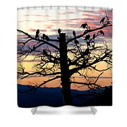 Morning In The Rockies Shower Curtain