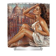 Morning In Venice Shower Curtain