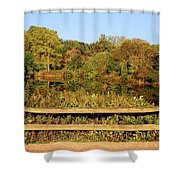 Morning Landscape In The Park Shower Curtain