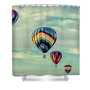 Morning Lift Off  Two Shower Curtain