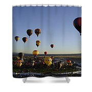 Morning Liftoff Shower Curtain