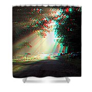 Morning Light - Use Red-cyan 3d Glasses Shower Curtain
