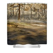 Morning Light On  Mammoth Terrace Shower Curtain