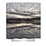 Morning Light At Saari-soljonen 1 Shower Curtain