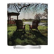 Morning Light At The Vineyard Florence Texas Shower Curtain
