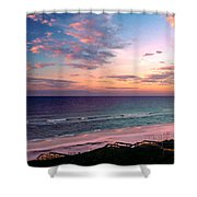 Morning Light On Rosemary Beach Shower Curtain