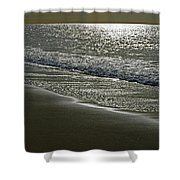 Morning Light On Sandown Beach Shower Curtain