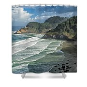 Morning Lighthouse Shower Curtain