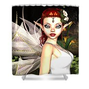 Morning Lily Fairy Shower Curtain