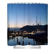 Morning Lines Shower Curtain