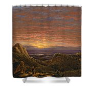 Morning Looking East Over The Hudson Valley From The Catskill Mountains Shower Curtain