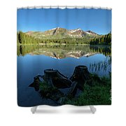 Morning Meditation - Lake Irwin Shower Curtain