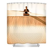 Morning Meditation Shower Curtain