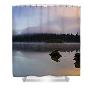 Morning Mist Burning Shower Curtain