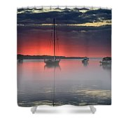 Morning Mist - Florida Sunrise Shower Curtain