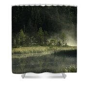 Morning Mist On The Gunflint Trail Shower Curtain