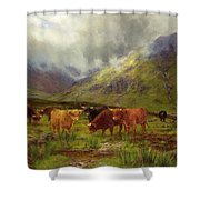 Morning Mists Shower Curtain