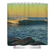 Morning Moonrise Shower Curtain