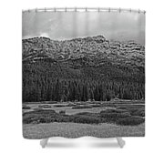 Morning Mountains In Yellowstone Shower Curtain