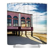 Morning Music Pier Shower Curtain